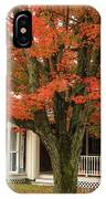 Orange Leaves And Pumpkins IPhone Case