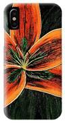 Orange Oriental Lily IPhone Case