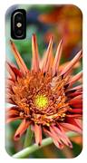 Orange Starburst IPhone Case