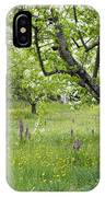 Orchard With Flowering Orchids IPhone Case