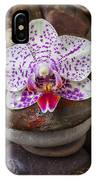 Orchid On Stack Of Rocks IPhone Case