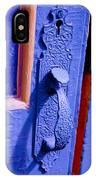 Ornate Blue Handle 2 IPhone Case