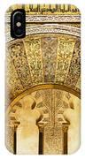 Ornate Mezquita Mihrab In Cordoba IPhone Case