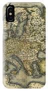 Ortelius's Map Of Europe, 1570 IPhone Case