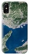 Osaka, Satellite Image IPhone Case