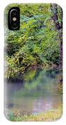 Overcast Reflections At Buck Creek IPhone Case