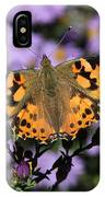 Painted Lady Among The Asters IPhone Case