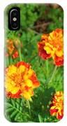 Painted Lady Butterfly In The Marigolds  IPhone Case