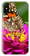 Painted Lady With Zinnia IPhone Case