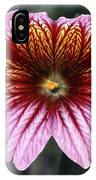 Painted Tongue (salpiglossis Sinuata) IPhone Case