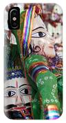 Pair Of Large Puppets At The Surajkund Mela IPhone Case