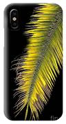 Palm Frond Against Black IPhone Case