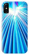 Palm Frond In Blue IPhone Case