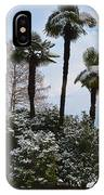 Palm Trees With Snow IPhone Case