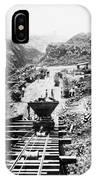 Panama Canal - Construction At The Culebra Cut - C 1910 IPhone Case