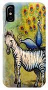 Panda Peacock Kangaroo Zebra IPhone Case