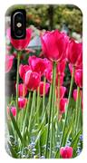 Panel Of Pink Tulips IPhone Case