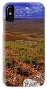 Panoramic View Of Fossil Butte Nm Valley IPhone Case