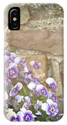 Pansies And Pussywillows IPhone Case