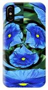 Pansy In Triplicate IPhone Case