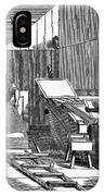 Papermaking, 1833 IPhone Case