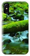 Paradise Of Mossy Logs And Slow Water   IPhone Case