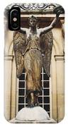 Paris Courtyard Musee Carnavalet Angel Statue - Victory Allegorical Angel Statue IPhone Case