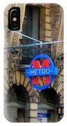 Paris Metro 5 IPhone Case