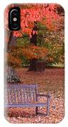 Park Bench In Fall IPhone Case