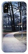 Park Path At Dusk IPhone Case