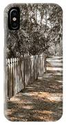 Path Along The Fence IPhone Case