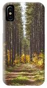 Path Into The Forest In Autumn Sault IPhone Case