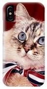 Patriotic Puddy Cat IPhone Case