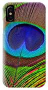 Peacock Feather Close Up IPhone Case