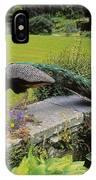 Peacock In Formal Garden, Kilmokea, Co IPhone Case