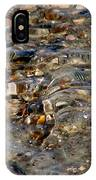 Pebbles And Shells By The Sea Shore IPhone Case