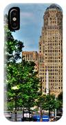 Pedestrian View Of City Hall Vert IPhone Case
