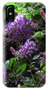 Peggy's Whisteria IPhone Case