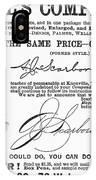 Penmanship Ad, 1887 IPhone Case