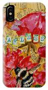 Peony Flower Painting - Be Fearless IPhone Case