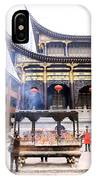 People At The Buddhist Temple IPhone Case