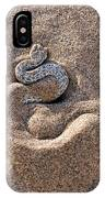 Peringuey's Adder Burying Itself In Sand IPhone Case