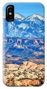 Petrified Dunes And La Sal Mountains IPhone Case