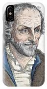 Philipp Melanchthon (1497-1560). German Scholar And Religious Reformer: Line Engraving, German, 19th Century IPhone Case