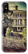 Picket Gate To Large House IPhone Case