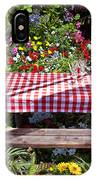 Picnic Table Among The Flowers IPhone Case