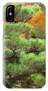 Pine And Autumn Colors In A Japanese Garden II IPhone Case