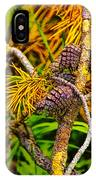 Pine Cones And Needles On A Branch IPhone Case