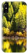 Pine Reflection At Georgetown Lake Colorado IPhone Case