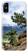 Pine Tree And Mountains IPhone Case